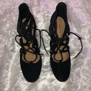 Christian Siriano for Payless lace up block heels